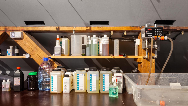 Химия, система вентиляции и электронный смеситель от Haas