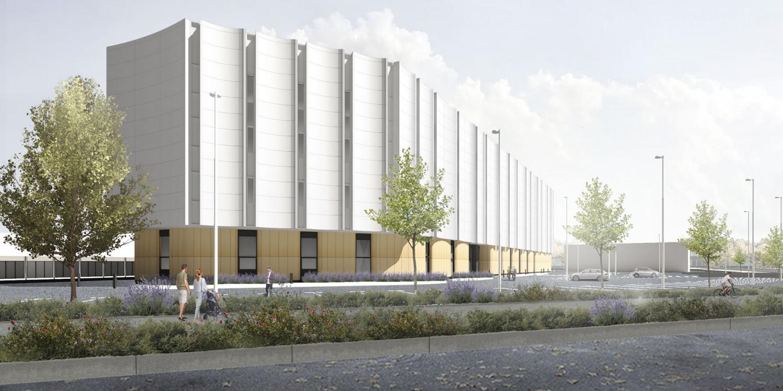спортивный центр, идет строительство